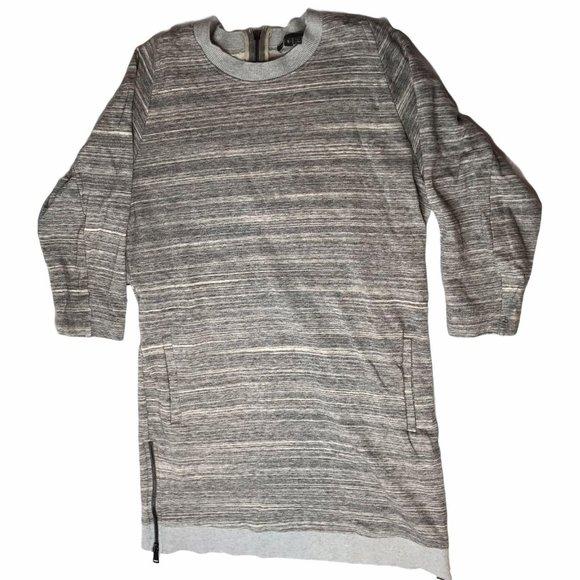 Vince Camuto Long Shirt Tunic Gray Women's S